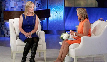 Broadcaster-Columnist-Elisabeth Leamy-with Katie Couric